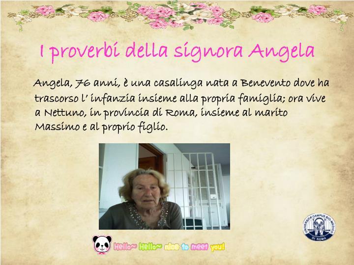 I proverbi della signora Angela