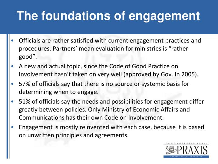 The foundations of engagement
