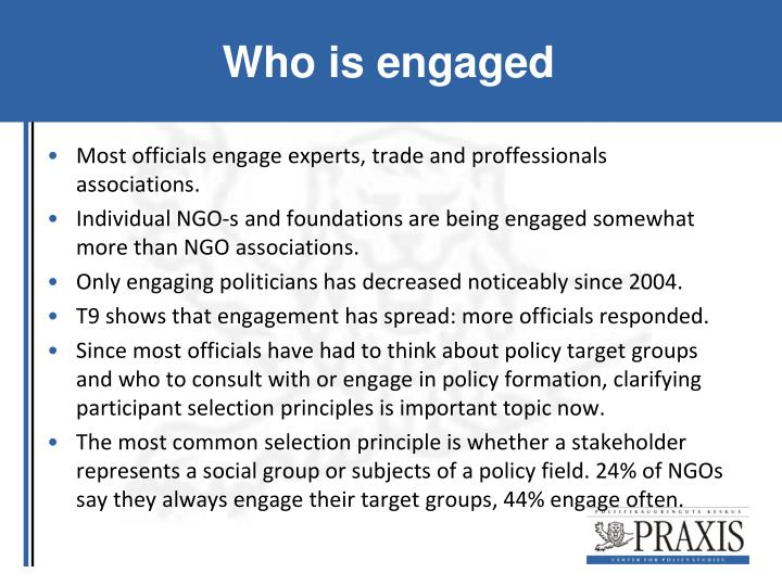 Who is engaged