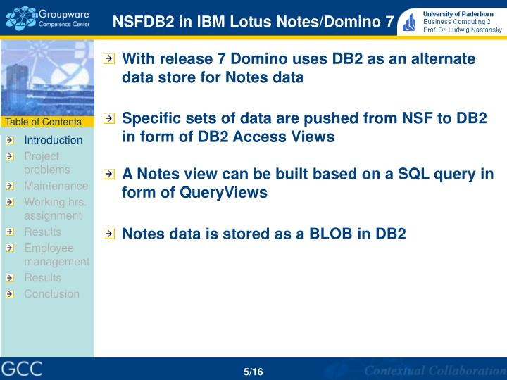 NSFDB2 in IBM Lotus Notes/Domino 7