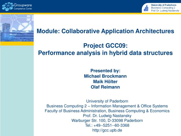 Module: Collaborative Application Architectures