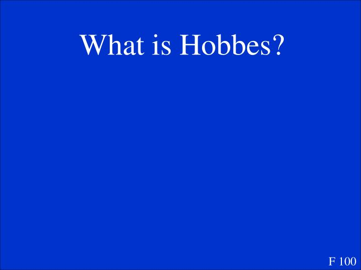 What is Hobbes?