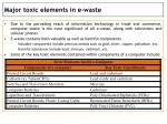major toxic elements in e waste