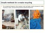 unsafe methods for e waste recycling