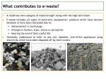 what contributes to e waste