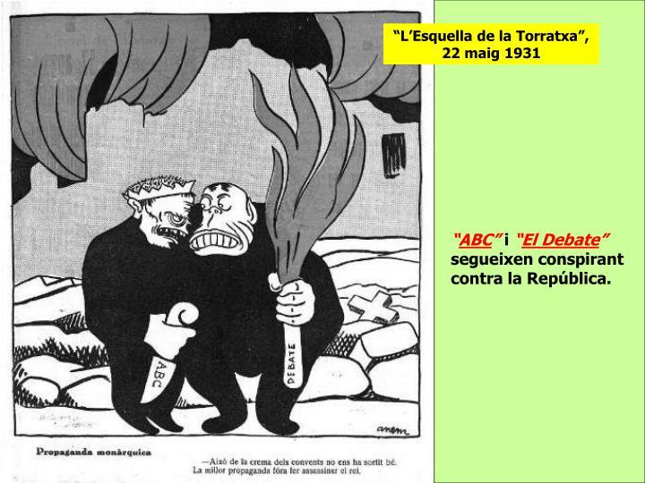 """""""L'Esquella de la Torratxa"""", 22 maig 1931"""