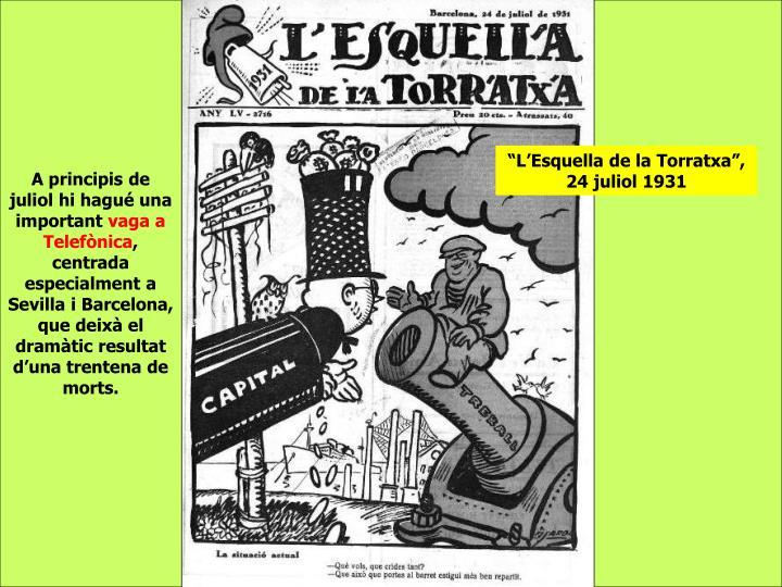 """""""L'Esquella de la Torratxa"""", 24 juliol 1931"""