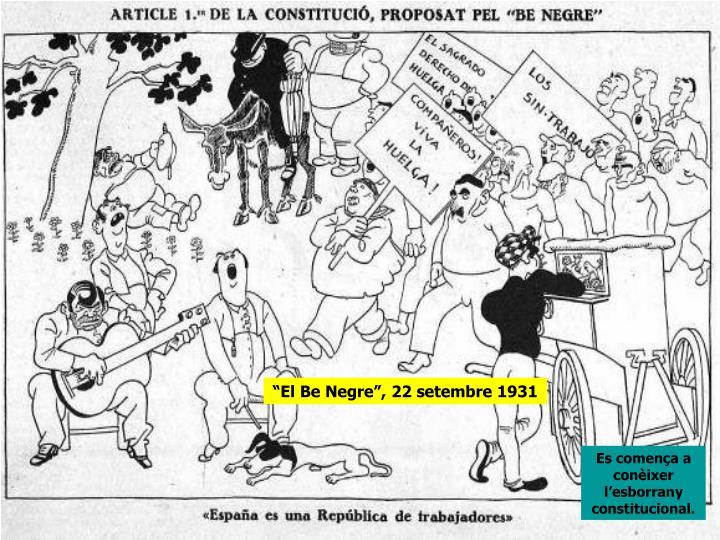 """""""El Be Negre"""", 22 setembre 1931"""