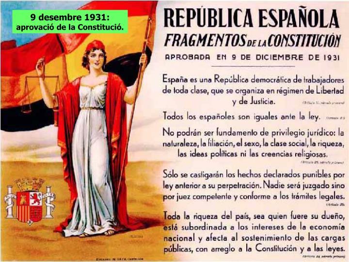 9 desembre 1931: