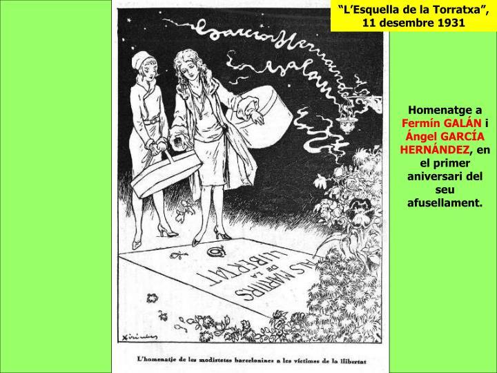 """""""L'Esquella de la Torratxa"""", 11 desembre 1931"""