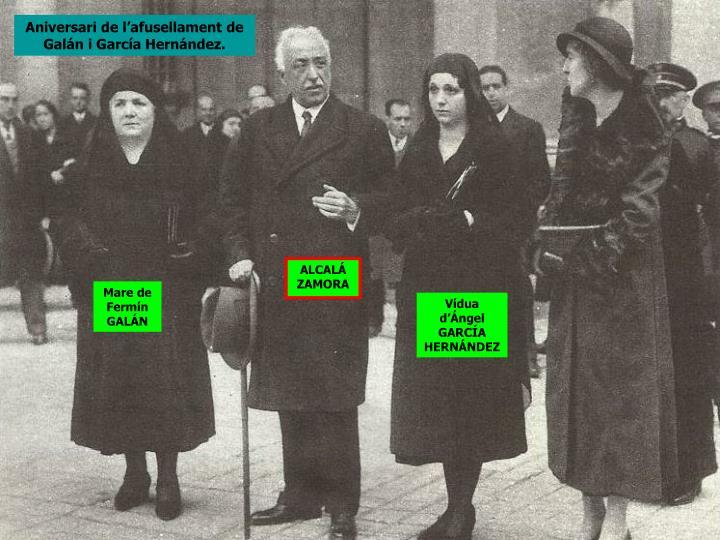 Aniversari de l'afusellament de Galán i García Hernández.