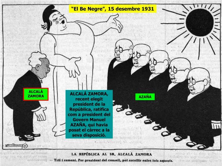 """""""El Be Negre"""", 15 desembre 1931"""