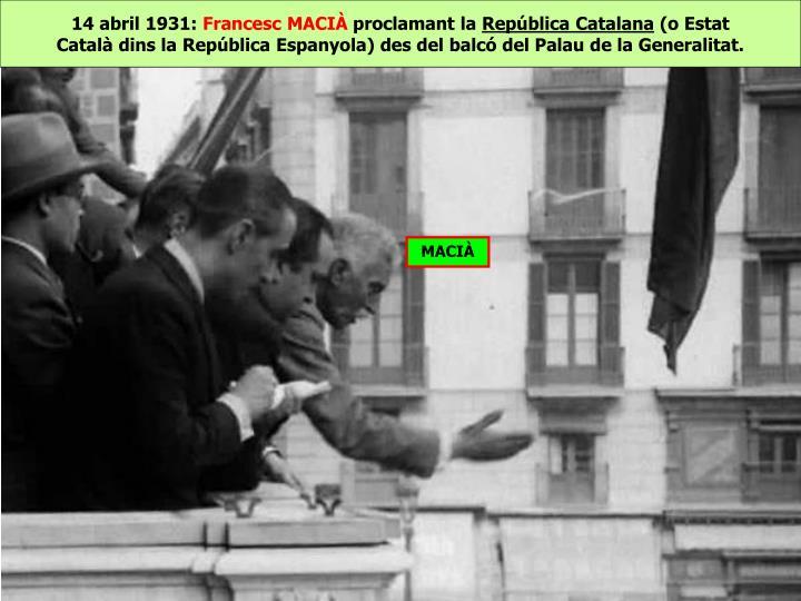 14 abril 1931: