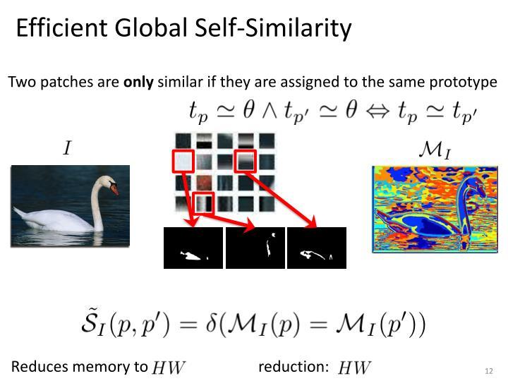 Efficient Global Self-Similarity