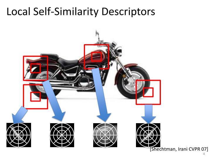 Local Self-Similarity Descriptors