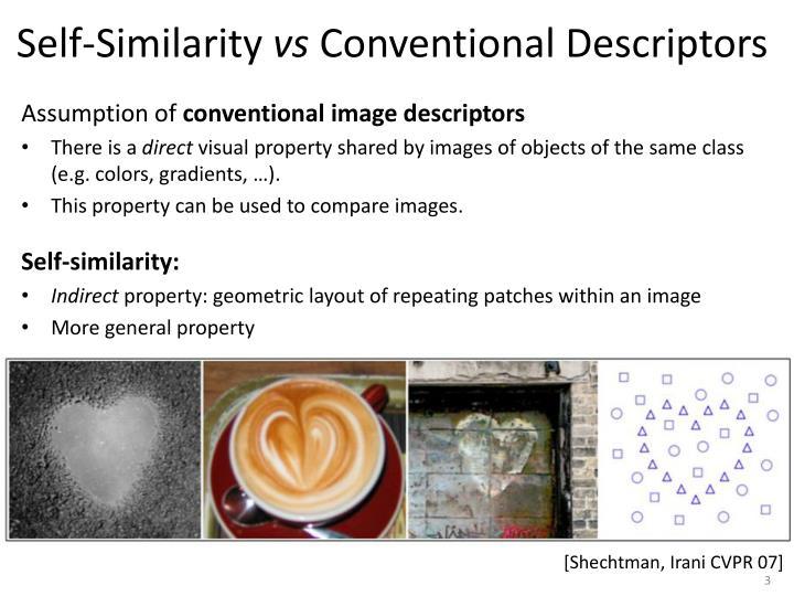 Self similarity vs conventional descriptors