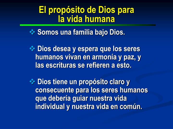 El propósito de Dios para