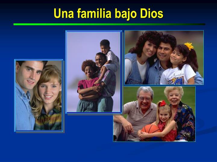 Una familia bajo Dios