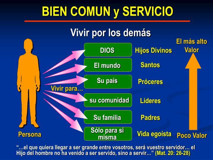 BIEN COMUN y SERVICIO