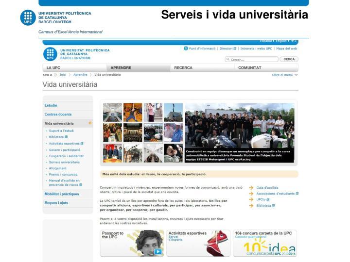 Serveis i vida universitària