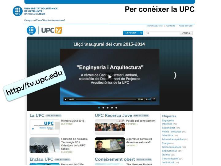 Per conèixer la UPC