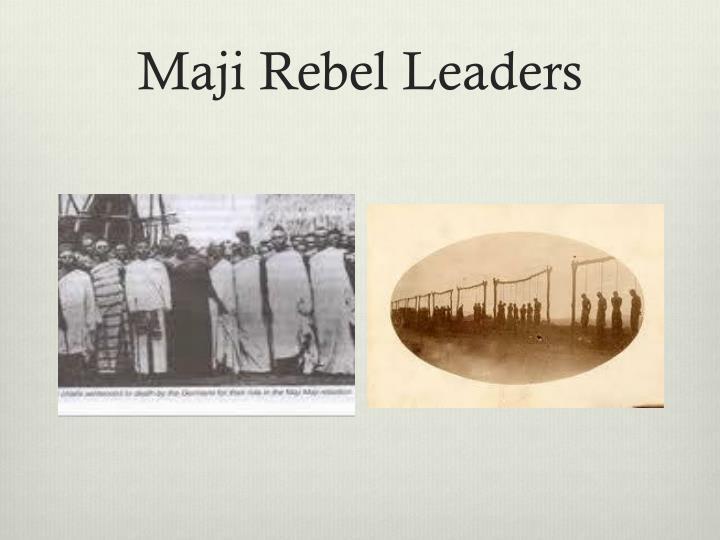 Maji Rebel Leaders