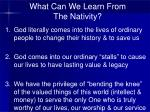 what can we learn from the nativity