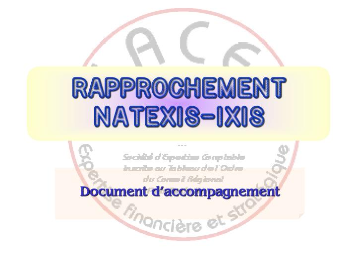 rapprochement natexis ixis n.