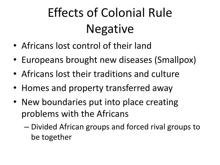 Effects of Colonial Rule