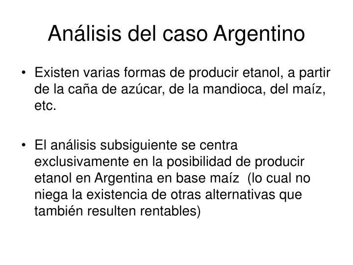 Análisis del caso Argentino