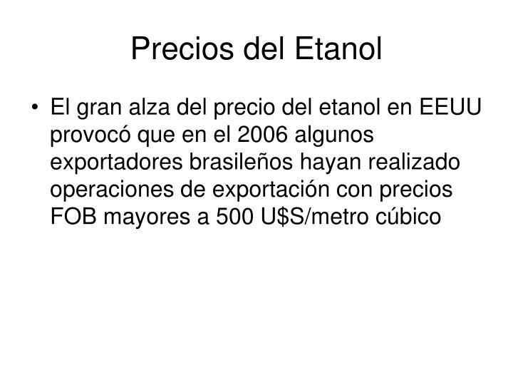 Precios del Etanol