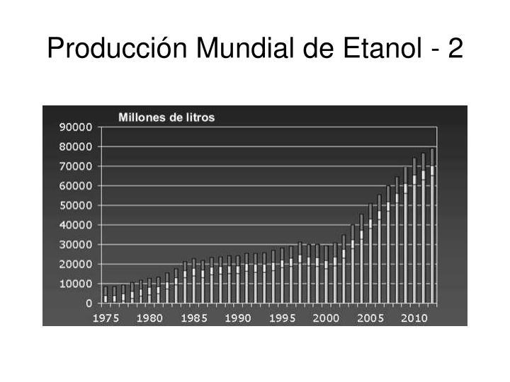 Producci n mundial de etanol 2