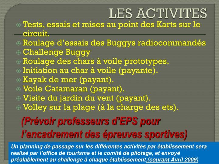 LES ACTIVITES