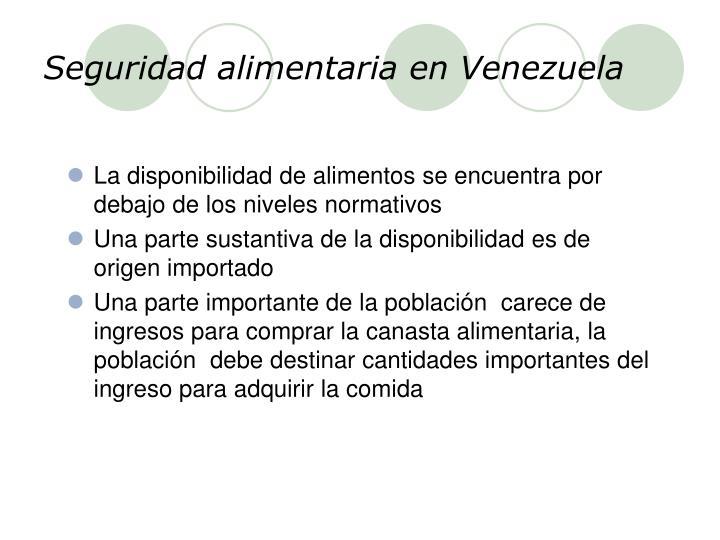 Seguridad alimentaria en Venezuela