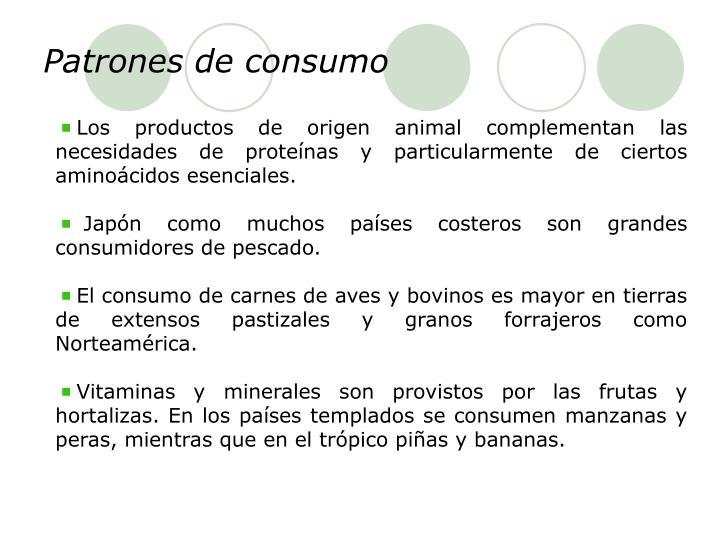 Patrones de consumo