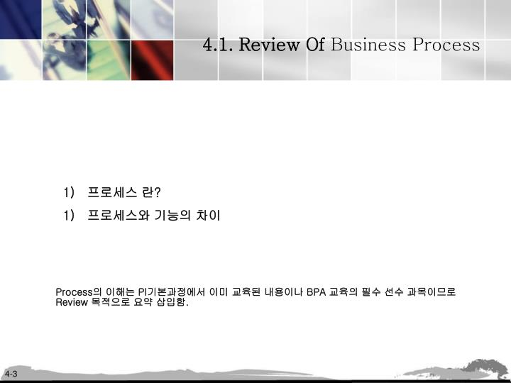 4.1. Review Of