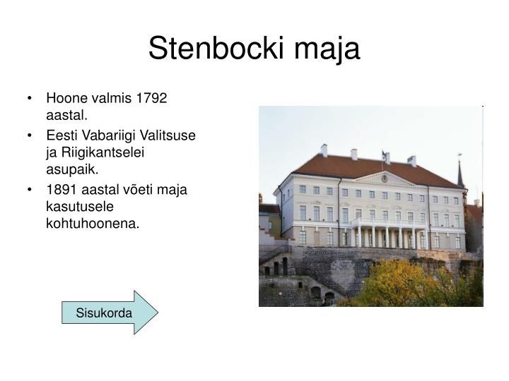 Stenbocki maja