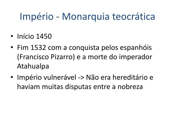 Império - Monarquia teocrática