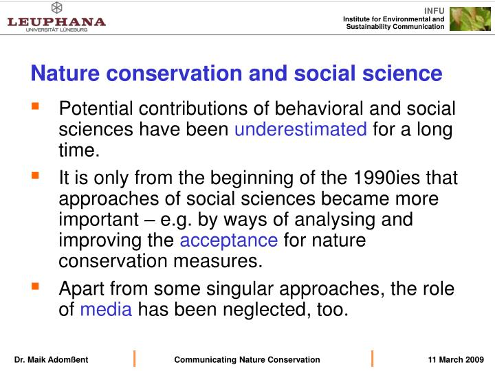 Nature conservation and social science