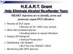 h e a r t grant help eliminate alcohol re offender team