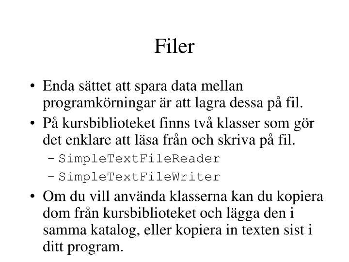 Filer