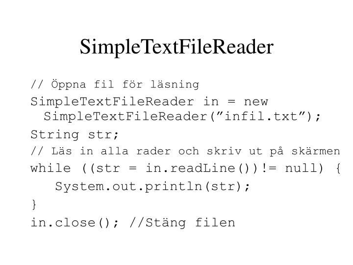 SimpleTextFileReader