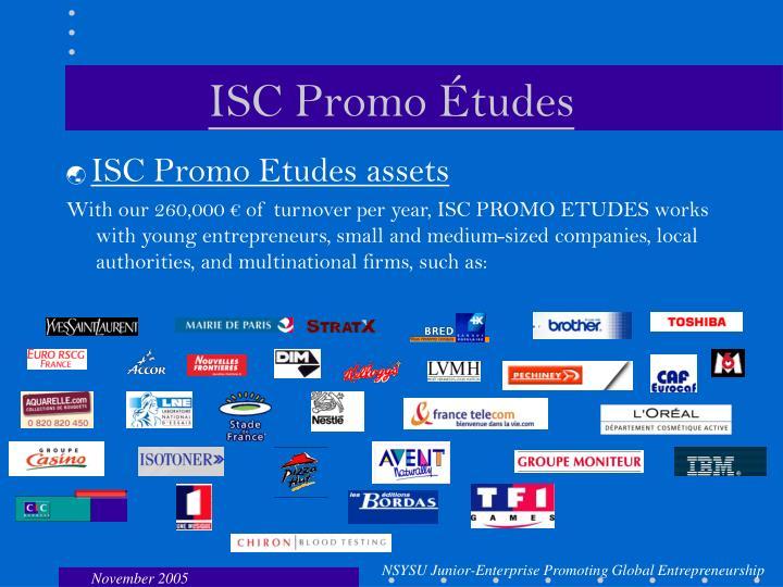 ISC Promo Études