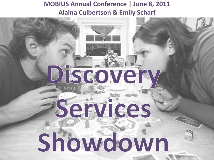 discovery services showdown n.