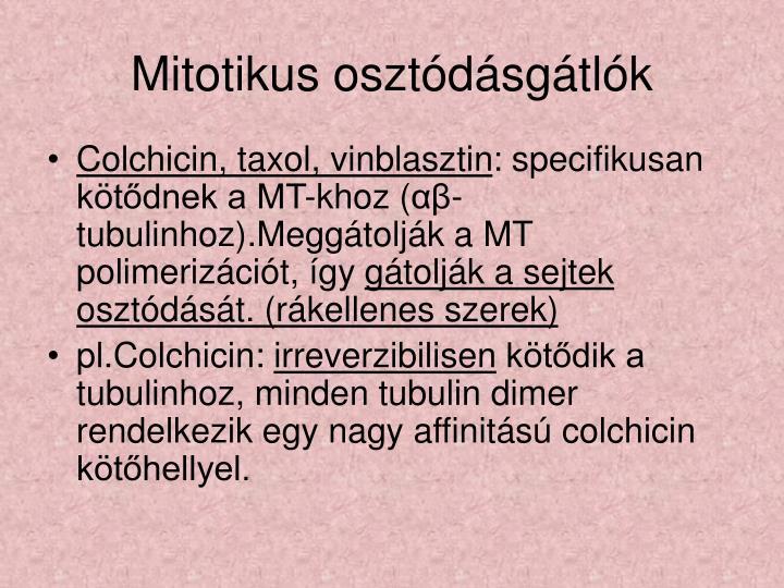 Mitotikus osztódásgátlók