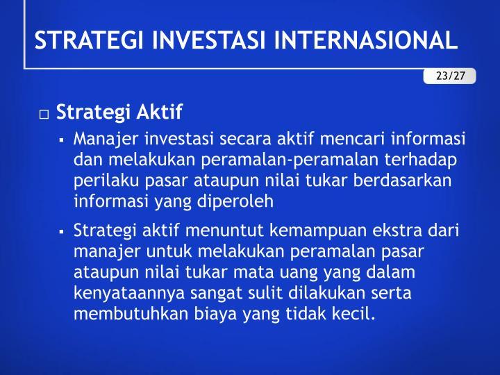 Strategi Aktif