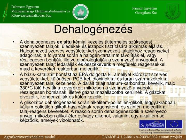 Dehalogénezés