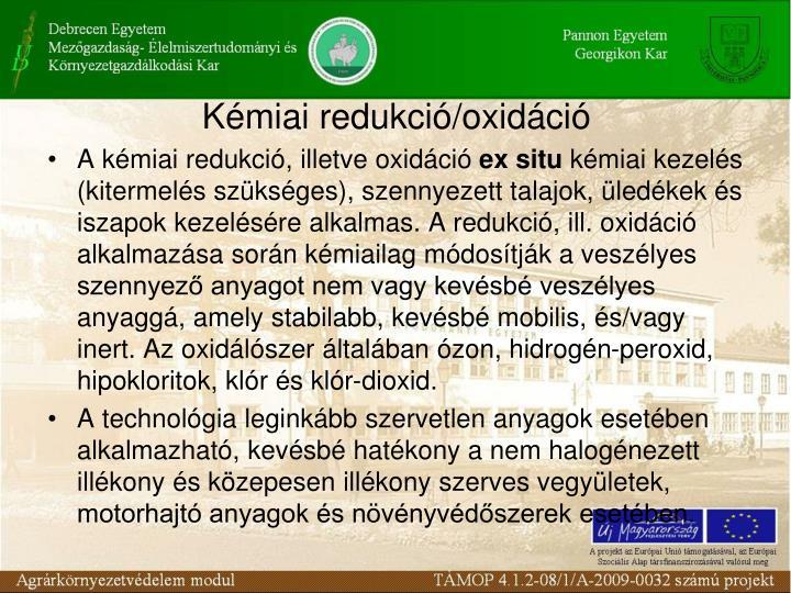 Kémiai redukció/oxidáció
