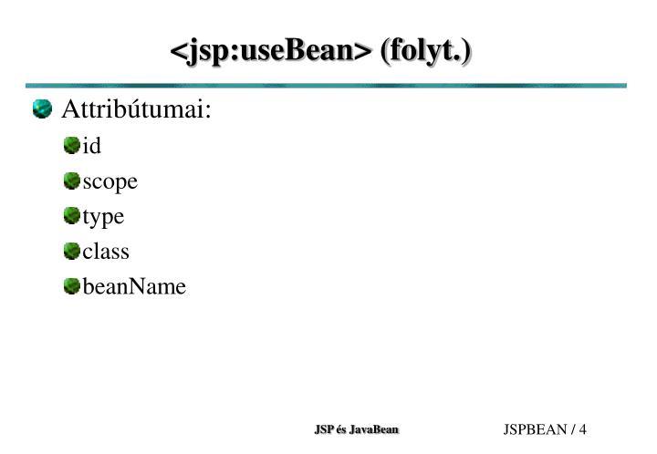 <jsp:useBean> (folyt.)
