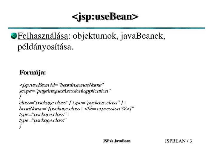 Jsp usebean